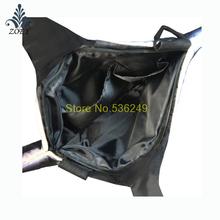 Black Killer Whale Bag Colorful Ocean Fish Messenger Bag Creative 3D Fish Sling Bag
