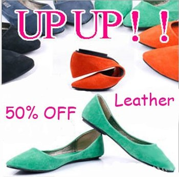 Genuine Leather Upper Fashion Flat Ballet Women Shoes Woman Flats Shoe Free Shipping