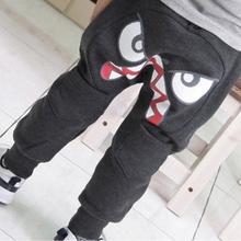 Special Bird Pattern Pants Kids Toddler Boys Cotton Mid Elastic Harlan Pants Trousers