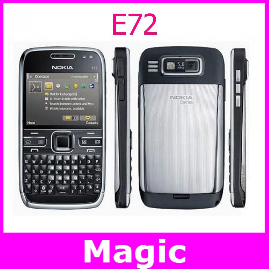Free Shipping Original Nokia E72 Unlocked WIFI GPS 5 MP Camera Symbian Mobile Phone Russian Arabic Keyboard and Language(China (Mainland))