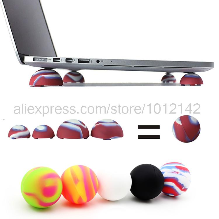 Colors Notebook Laptop Cooling Cooler Stand Ball Feet Antiskid Leg Skidproof Pads Laptop Cooling ball For Macbook Free shipping(China (Mainland))
