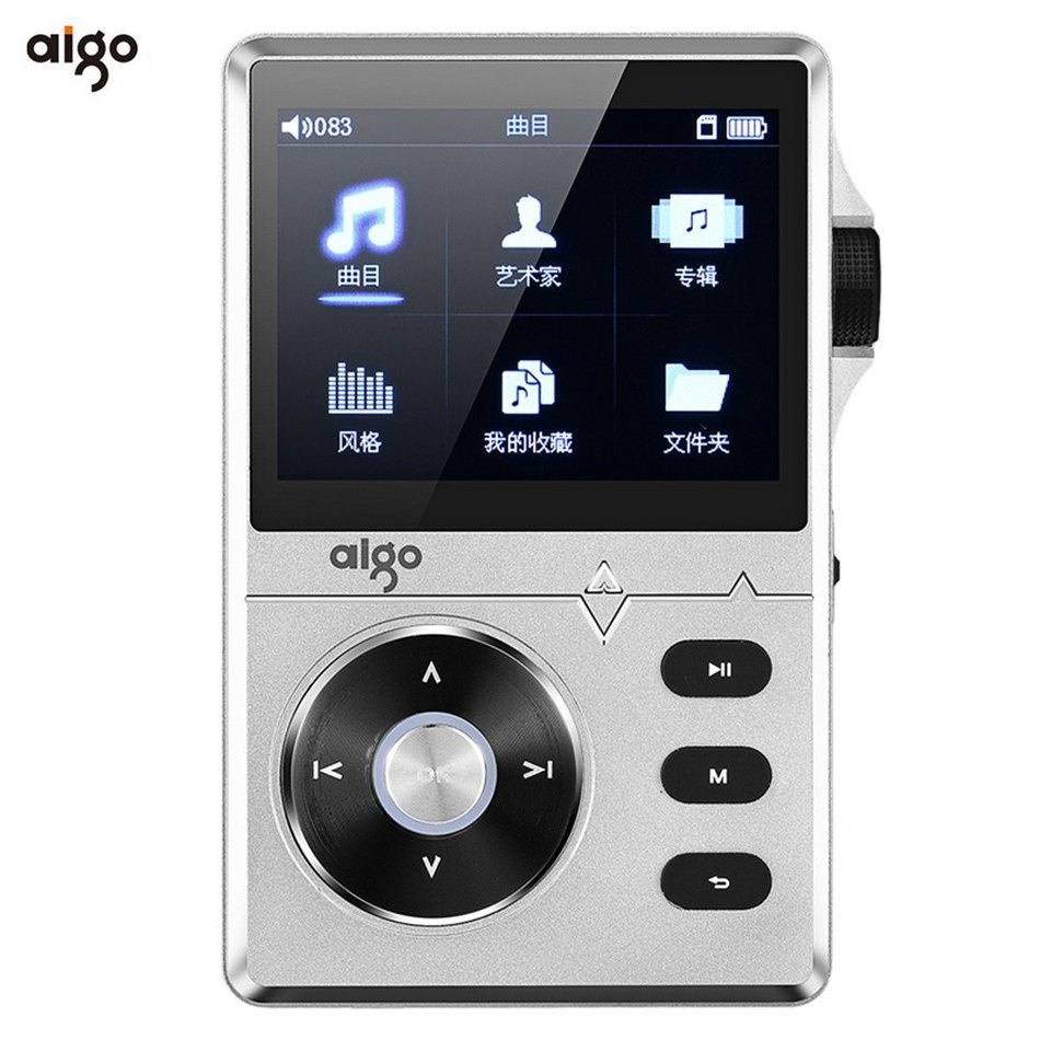 2016 Best Selling Silver Aigo 108 Zinc Alloy HiFi High Quality Sound Lossless Music 2.2 Inches 8GB MP3 Player with Color Screen(China (Mainland))