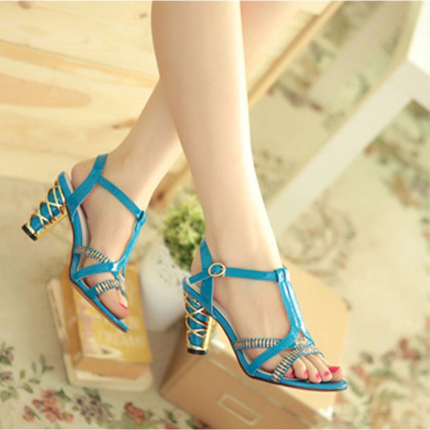 free shipping women high heels sandals summer style 4 colors selection women shoes 55(China (Mainland))