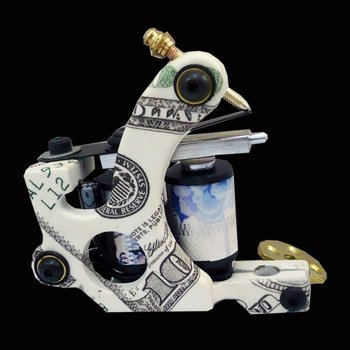 Wholesale - New Cast Iron Tattoo Machine Gun shader liner 10 Wraps Coils P1060362