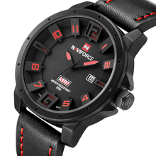 NAVIFORCE Luxury Brand Military Watches Men Quartz Analog 3D Face Leather Clock Man Sports Watches Army Watch Relogios Masculino(China (Mainland))