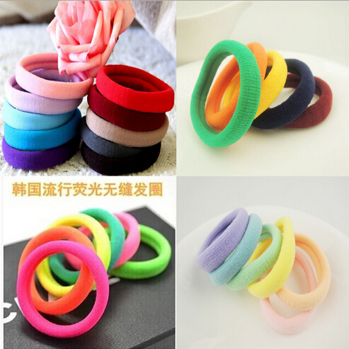 2014 New Fashion Hair Accessories For Girls women black Elastic Hair Bands 100pcs/lot rubber bands Free shipping A195(China (Mainland))