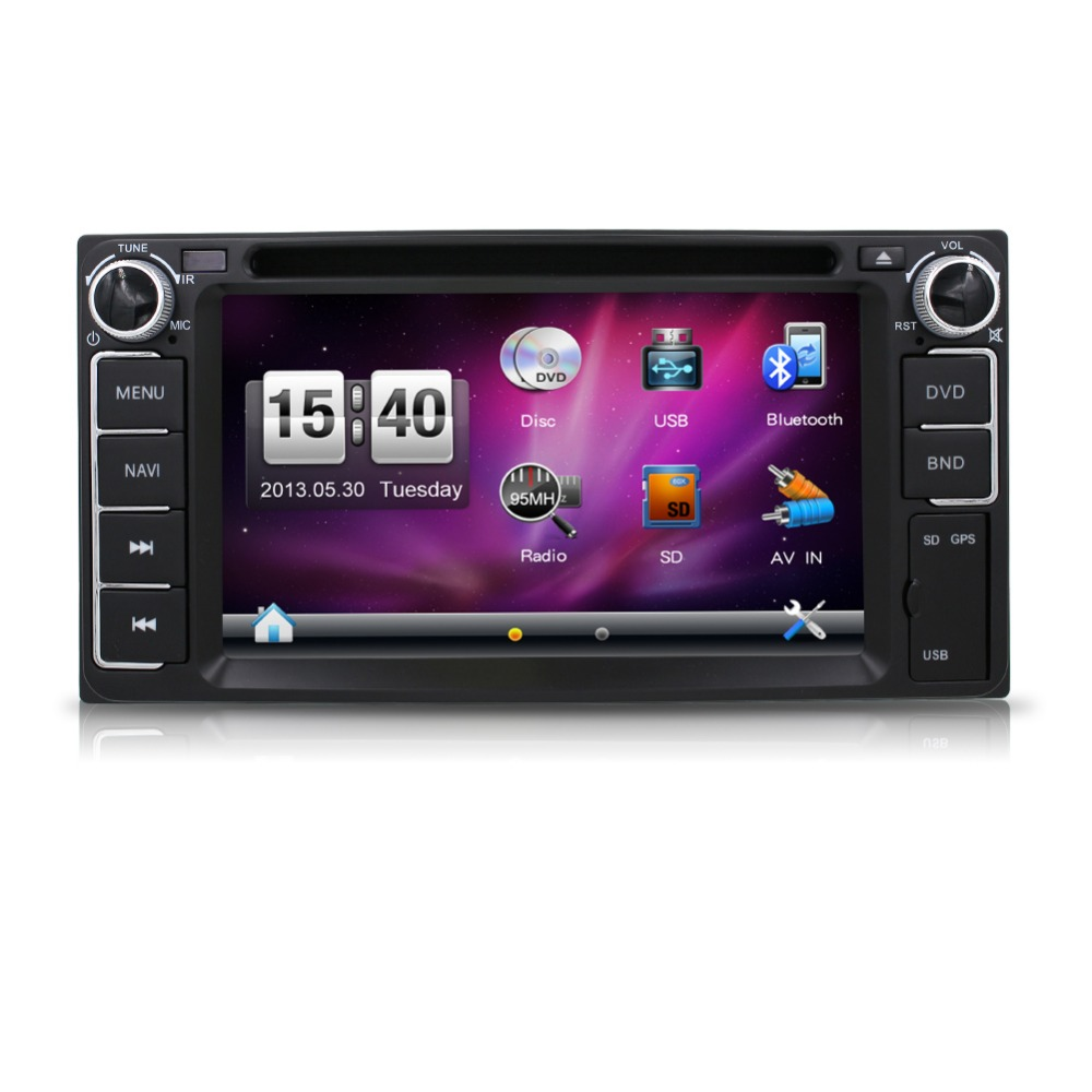 Newest 200*100 double din Car DVD Player PC GPS Navigation Stereo Toyota Multimedia Screen Universal Head Unit Double BT MP3(China (Mainland))