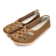 2015 Top Sales!Women Flat Shoes Genuine Leather Anti-slip Maternity/Mother/Nurse Shoes Soft Leisure Moccasins Size 35-40,507