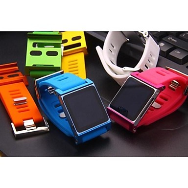 Z0009 2 Bracelet Watch Band Wrist Strap for iPod Nano 6 Case (Assorted Colors)(China (Mainland))