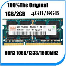 Free shipping Original Korea hynix 2GB/4GB/8GB 2RX8/1Rx8 PC3-12800s DDR3 1600MHz Laptop Memory RAM/Single-strip/In stock/1.5v
