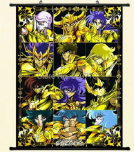 Saint Seiya Pegasus Seiya Cygnus Hyoga Wall Poster Scroll Home Decor Japanese A
