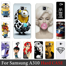 For Samsung Galaxy A310 Case (2016 Edition A3) Hard Plastic Mobile Phone Case DIY Color Paitn Cellphone Bag Shell Shipping Free