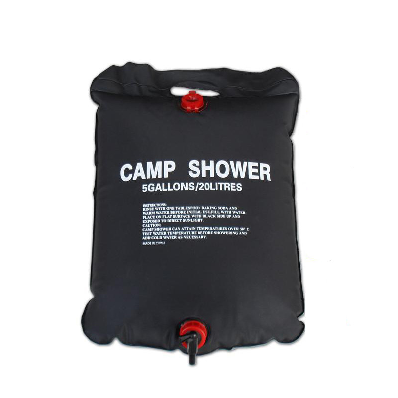 20L 5 Gallons Solar Energy Heated Camp Shower Bag PVC Water Bag Outdoor Camping Travel Hiking Climbing BBQ Picnic Water Storage(China (Mainland))