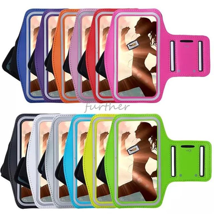 Slim Trendy Sweatproof Neoprene Sports Arm band For iPhone5C Adjustable Running SPORT GYM Arm band Bag Arm Band Phone Belt Cover(China (Mainland))
