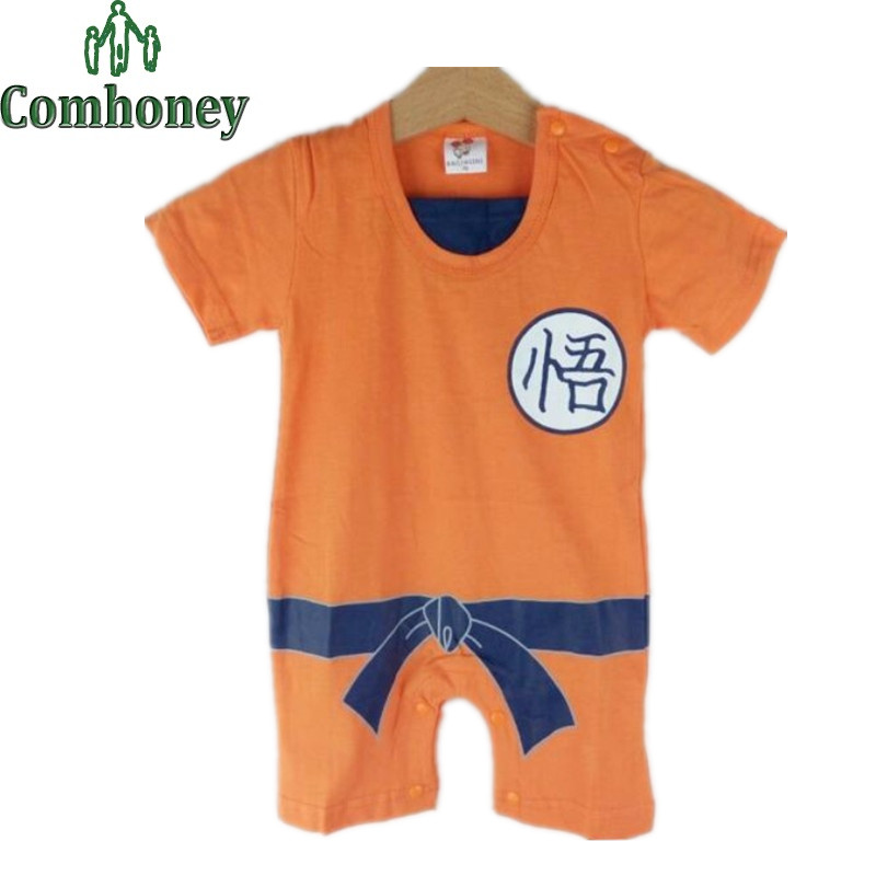 Baby Boy Romper Goku Dragon Ball Z Cartoon Long Sleeve Baby Romper Infant Toddlers Jumpsuit Martial Arts Overalls Baby Costume
