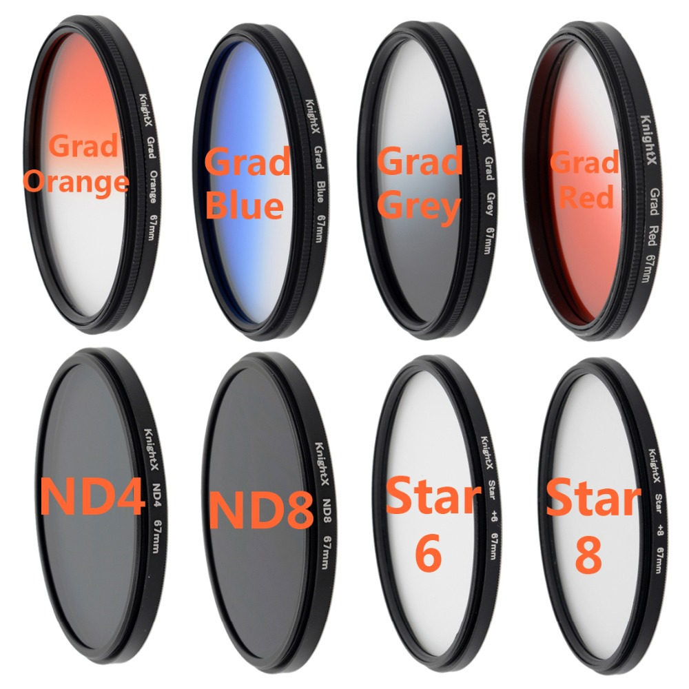 camera filter Star filter ND4 ND8 lens Graduated Grey color filter for Sony Nikon D70 D80 D90 D100 D3000 for Canon EOS 1200D(China (Mainland))