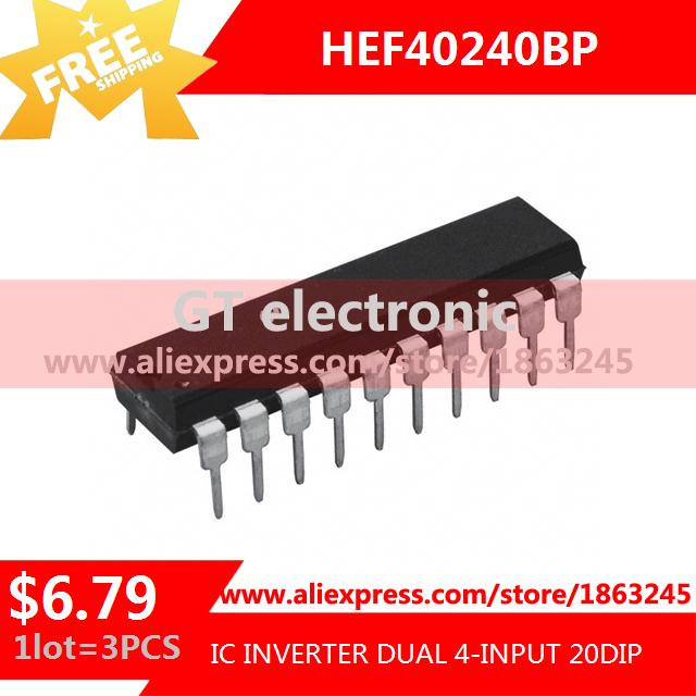 Free Shipping Diy Electronic HEF40240BP,652 IC INVERTER DUAL 4-INPUT 20DIP HEF40240BP 40240 HEF40240 3pcs(China (Mainland))