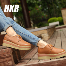 HKR 2016 spring Women ankle boots fashion short Snow boots High Quality leather boots oxfords rubber boots zapatillas 8836(China (Mainland))