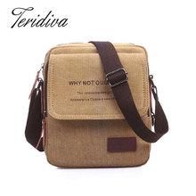 2016 New Men Messenger Bags Canvas Vintage Bag Men Shoulder Crossbody Bags for Man Brown Black Small Bag Designer Handbags Bolso(China (Mainland))