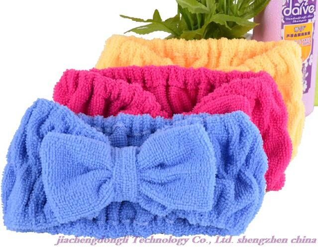 New Arrivals! Wholesale high quality end of the new butterfly hair bands, hair bands face yoga towel, headband color random(China (Mainland))