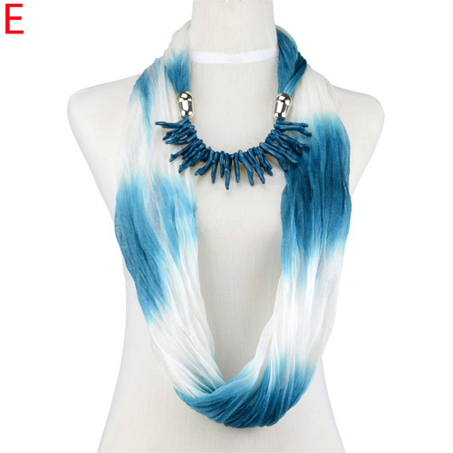 Women 2015 spring and summer scarf coral charms jewelry infinity circle endless chiffon scarf, NL-1987(China (Mainland))