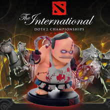 America Valve Steam Game Dota2 The International Championships Seattle Competition Pudge butcher Action Figure Doll