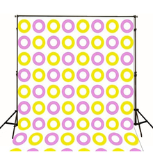 Children Backgrounds 3D Fashion Baby Studio Purple Yellow Circle Photo Backdrops Background