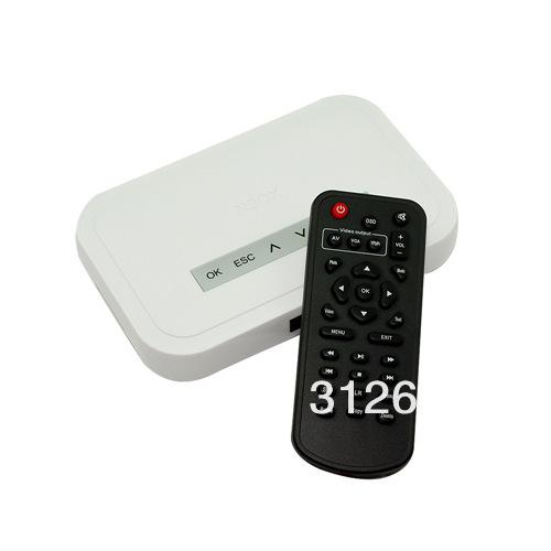 NBOX HDTV HD Media TV Player RM RMVB DivX HDD SD USB HD , free shipping(China (Mainland))