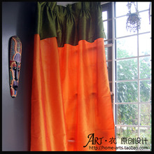 Curtain finished product quality dodechedron customize pure color cloth curtain floor window piaochuang