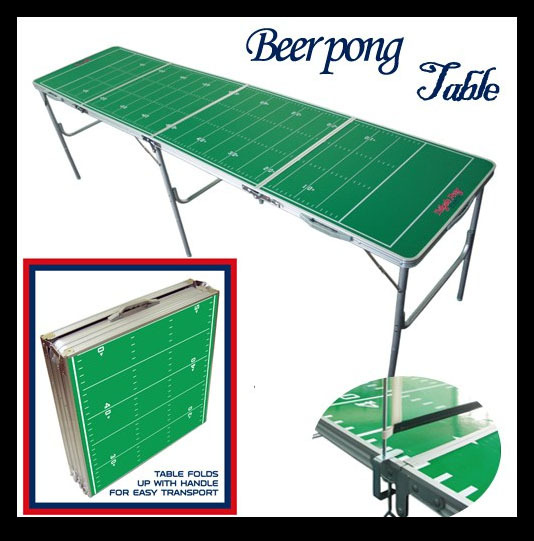 New Portable Folding Beer Pong Table Official Beer Pong Table Tennis Table(China (Mainland))