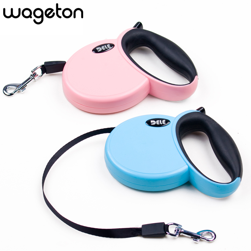 DELE Retractable Leash 3 Meters Flexible Dog Puppy Cat Lead Leashes Sport Collars New Automatic Traction Rope Pet Products(China (Mainland))