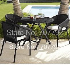 Modern balconies wicker rattan furniture rattan chair and table(China (Mainland))