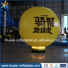 High quality commercial inflatable advertising balloon shape with LED light for promotion(China (Mainland))