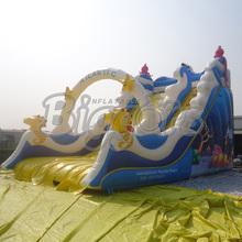 PVC Atlantic Kids Inflatable Slides Rentals Backyard Inflatable Dry Slides(China (Mainland))