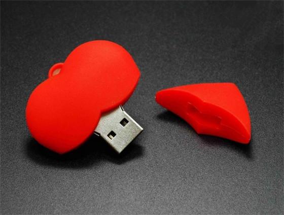 Red heart sweet love USB 2.0 flash memory stick pen drive 4GB 8GB16GB 32GB Real capacity S899(China (Mainland))