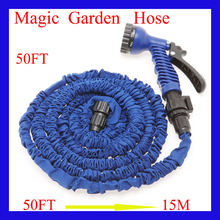50FT Garden water Hose watering & irrigation pipes with spray gun expandable car hose Garden supplies hoses Garden Reels(China (Mainland))