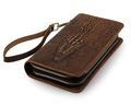 New Crocodile Pattern Genuine Leather Men Business Clutch Wallet Handbags Purse