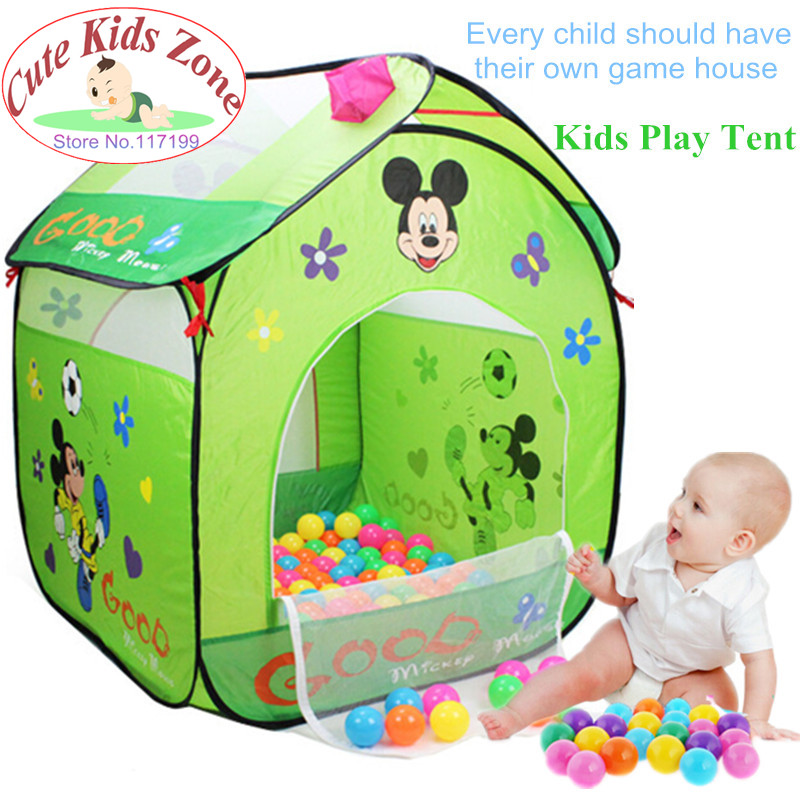 Kids Gift New Arrive Cartoon Children's Game House Cute Kids Play Tent Baby Breathable Toy Tent Child Beach Tent DSN001(China (Mainland))