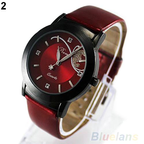 Hot Fashion Luxury Dress Women's Ladies Girl Butterfly Analog Quartz Gift Wrist Watches Purple Red 1N7D(China (Mainland))