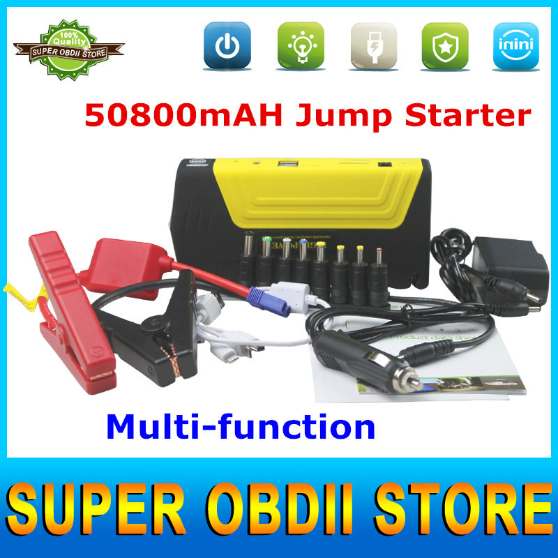 2015 A+++ Auto Emergency Car Jump Starter V12 Battery Charger Jump Starter Car Power Bank Laptop External Rechargeable Battery(China (Mainland))
