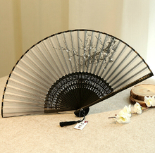 Raw silk fan, Chinese handicrafts, Chinese style ladies wind craft fan silk fan cherry fan antiquity folded small(China (Mainland))