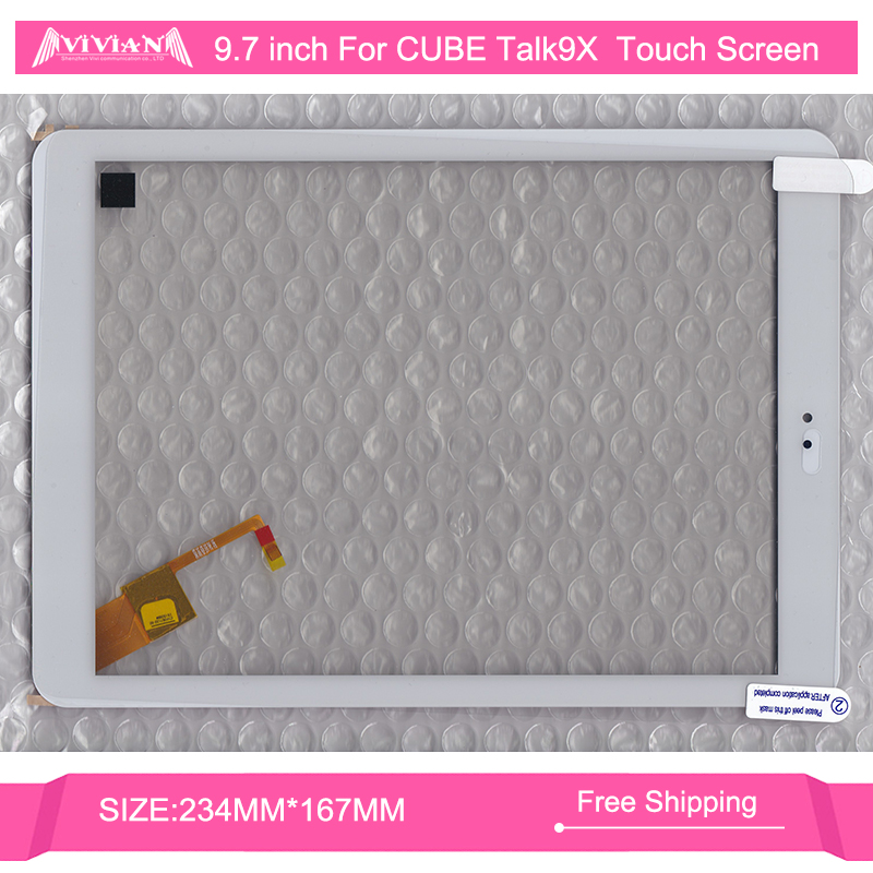 White Black Brand New 100% Original Applicable 9.7 Inch FOR CUBE U65GT Talk9X Tablet Touch Screen 097133-01A-V1 - Shenzhen Vivian Communication Co., Ltd store