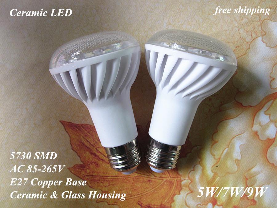 bright 110V 220V 240V E27 5W 7W 9W ceramic LED bulb lamp light 5730 5630 SMD warm/cool/cold white R63 - baoyuebiao's store
