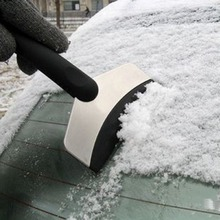 Black Mini Car Vehicle Emergency Scraper Removal Snow Auto Clean Tool Ice Shovel(China (Mainland))