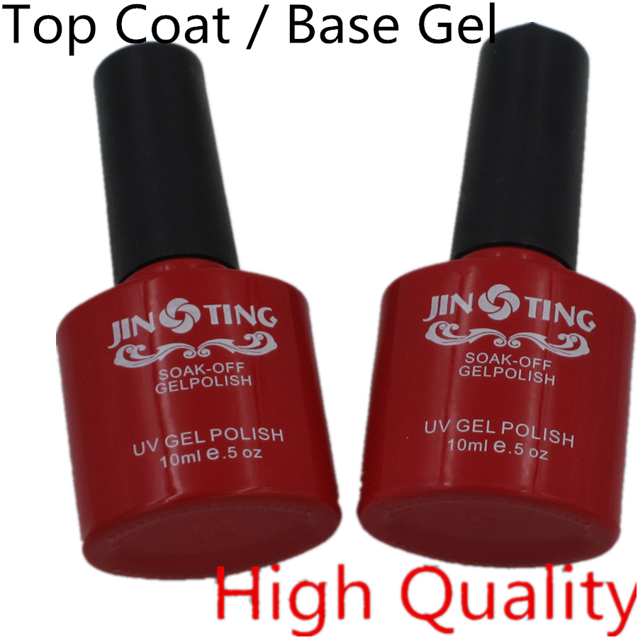 New Arrive Top Coat Top it off / Base gel Foundation Kit JingTing for UV Gel Nail Polish Gorgeous Colors Best 10ml(China (Mainland))