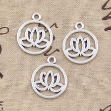 Buy 20pcs Charms lotus flower 20mm Antique pendant fit,Vintage Tibetan Silver,DIY bracelet necklace for $2.17 in AliExpress store