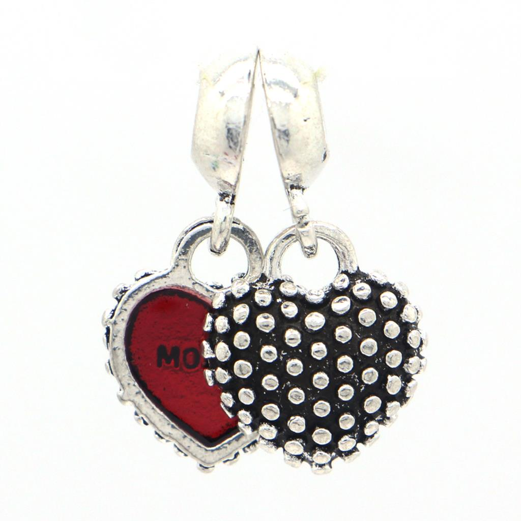 1pc European Red Mother And Son Pendant Charm 925 Silver Beads Fashion Style Bead Alloy Bead Fit
