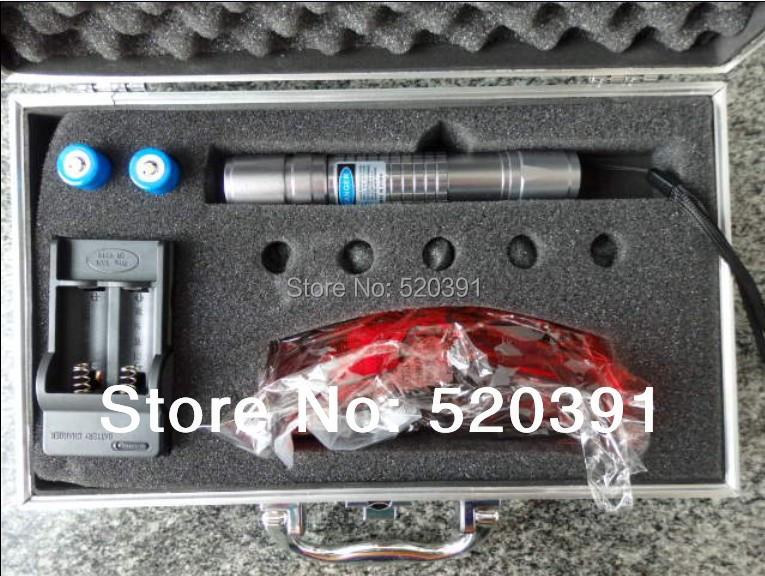 445nm / 450nm ponteiros laser azul 10000 mw 10 W 450nm queimadura jogo charuto corte de papel plástico / madeira seca + óculos + caixa de presente(China (Mainland))