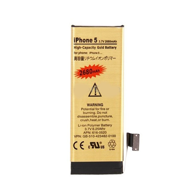 100pcs/lot.2680mAh High Capacity Gold Replacement Li-Ion Original Phone Battery+Repair Tool for iphone5G(China (Mainland))