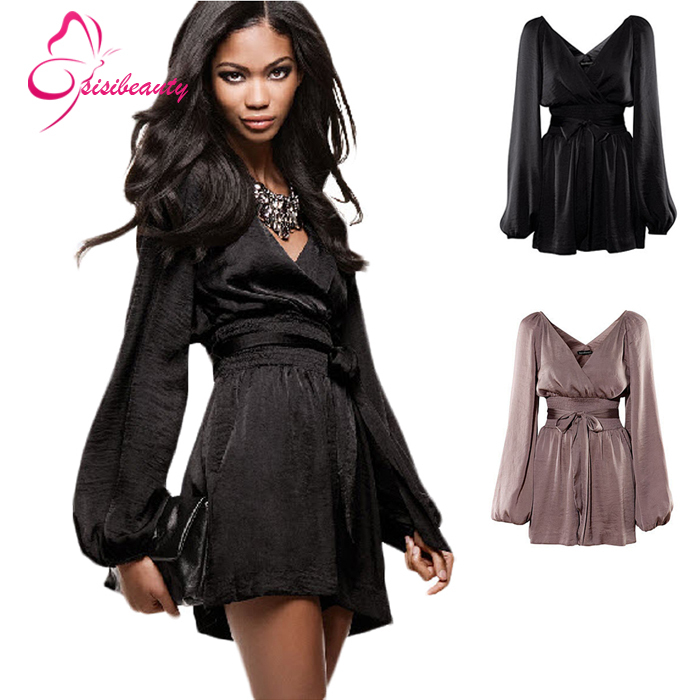 2015 Hot Sale Summer Style Party Dresses V-neck Rompers Style Girls Women Chiffon Casual Dress 4Одежда и ак�е��уары<br><br><br>Aliexpress